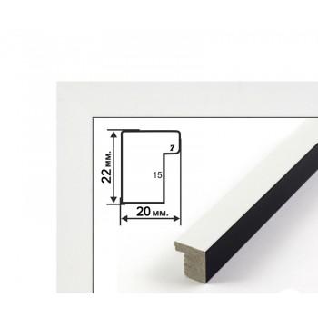 Багетная рамка (бело-черная, 2 см) 40х50