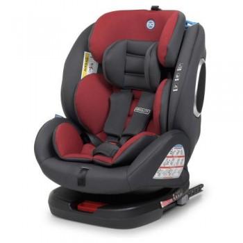 Автокресло EL CAMINO ME 1079 RED для детей весом от 9 до 36 кг, с системой крепления Isofixт, красное