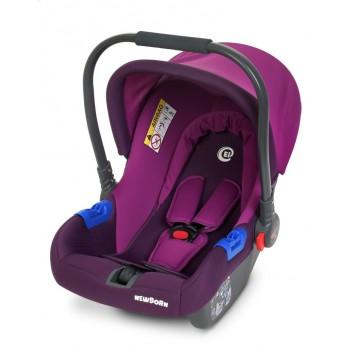 Автокресло, бебикокон с рождения до 15 месяцев, регулируется ручка, группа 0+ ME 1009-2 NEWBORN, фиолетовое