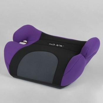 Бустер детский автомобильный JOY 79129 Черный с фиолетовым, группа 2/3, вес ребенка 15-36 кг