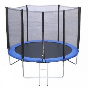 Детский батут для дома и улицы с защитной сеткой и лестницей в комплекте RJ-0085/1 (диаметр 183 см)