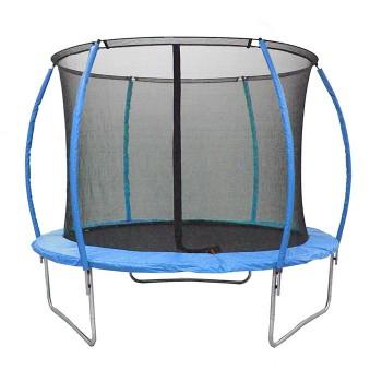 Батут для детей с внутренней защитной сеткой и лестницей RJ-0086/2 (диаметр 244 см, высота 202 см)