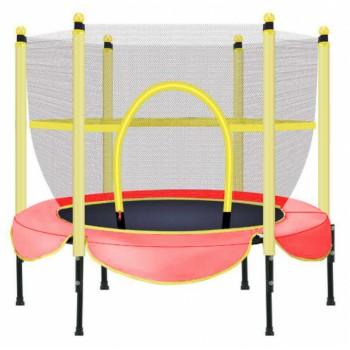 Батут для детей со стойками и защитной сеткой диаметром 152 см BT-RJ-0078 (цвет красный)