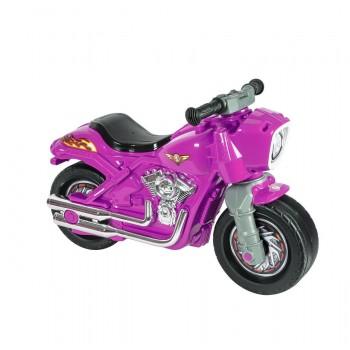 Байк каталка-толокар для девочек с высоким сиденьем и широкими колесами 504 ORION, цвет розовый
