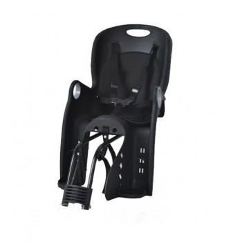 Велокресло TILLY Maxi T-831/1 Black, с трехточечным ремнем безопасности и регулировкой подножки , черное