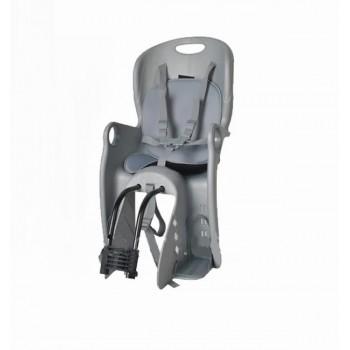 Детское велокресло из прочных материалов с ремнем безопасности для детей TILLY Maxi T-831/1 Gray, серое
