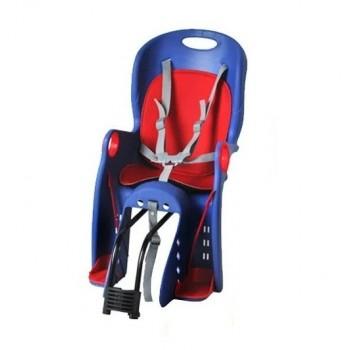 Детское велосипедное кресло для ребенка до 7-ми лет с весом до 22-х кг TILLY Maxi T-831/1 Blue, синее