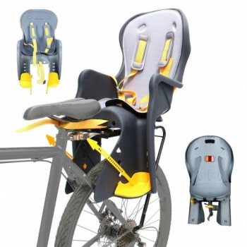 Велокресло для детей до 7-ми лет с регулируемыми подножками TILLY Easy Fit T-841 светло-серое