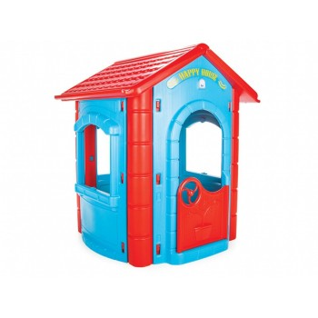 Детский игровой домик для дома или улицы детям от 1 до 7 лет, Pilsan 06-098 (высота 130 см), цвет сине-красный