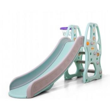Детская горка для малышей с баскетбольным кольцом и бортами безопасности C - 12404