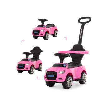 Детская машинка каталка толокар с родительской ручкой Audi Bambi M 3503A-8 Розовый