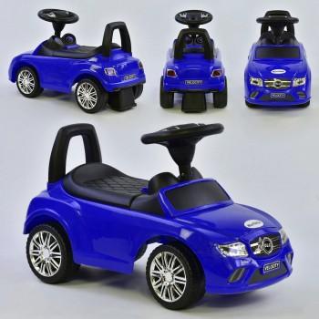 Детская каталка-толокар c музыкальным рулем и багажником, русская озвучка JOY R - 0033, Синий