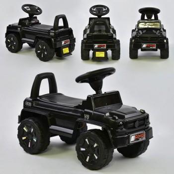 Детская каталка-толокар JOY V-10009 Черный (музыка, свет, русское звучание, багажник)