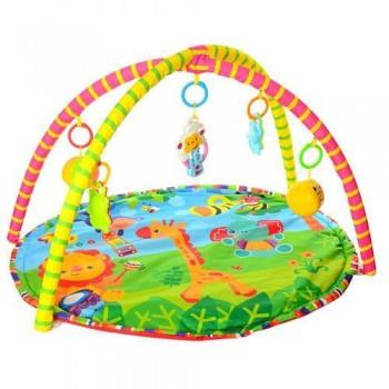 Игровой коврик круглой формы для малышей 518-17 с подвесными игрушками