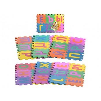 Детский игровой коврик-пазл мозаика с буквами русского алфавита M 0378 (36 элементов)