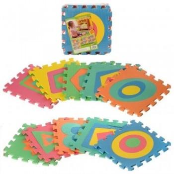 Детский игровой коврик пазл с Фигурами больше и меньше для малышей M 2737 (10 элементов)
