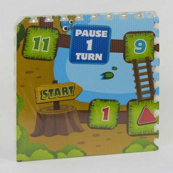 Детский мягкий коврик-пазл игра Бродилка EVA С 36567, размер детали 60 * 60 см (4 шт в упаковке)