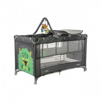 Детский манеж-кровать CARRELLO Molto CRL-11604 Ash Grey для играющего малыша со вторым дном
