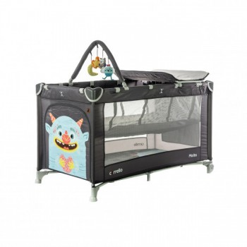 Детская кровать манеж для ребенка CARRELLO Molto CRL-11604 Magnet Grey со вторым дном