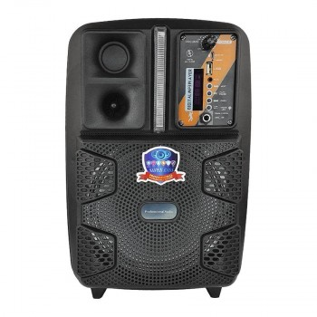 Bluetooth-колонка мобильная на колесах чемоданного типа, с микрофоном для караоке, на аккумуляторе PK-16