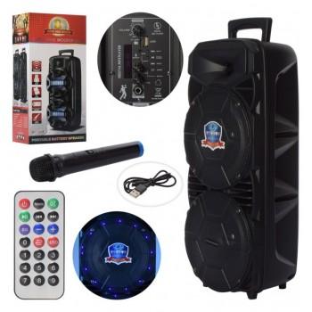Портативная Bluetooth колонка со световыми эффектами, пультом д/у и микрофоном для караоке LT-2804