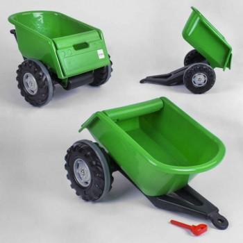 Прицеп для детских педальных тракторов Pilsan Trailer 07-295 Зеленый