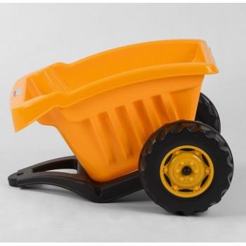 Детский прицеп для педального транспорта (с максимальной нагрузкой до 35 кг) Pilsan 07-317, цвет желтый