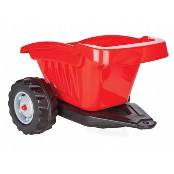 Детский прицеп для педального трактора (с максимальной нагрузкой до 35 кг) Pilsan 07-317, цвет красный