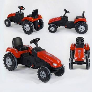 Детский трактор с педалями Pilsan 07-321 Красный (прорезиненные колеса, регулируемое сидение, клаксон на руле)