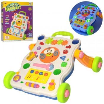 Детская игровая каталка-ходунки для ребенка 668-37 с трещоткой и микрофоном