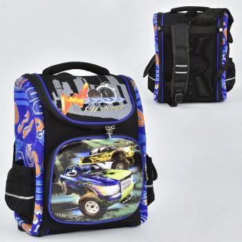 Рюкзак школьный каркасный N 00133 спинка ортопедическая 1 отделение 3 кармана с 3D рисунком