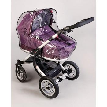 Силиконовый дождевик на коляску универсальный с молнией Baby Breeze 0310