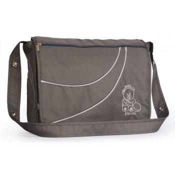 Вместительная сумка для коляски Baby Breeze из водоотталкивающей ткани 0351 графит
