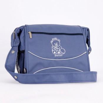 Классическая сумка для коляски Baby Breeze 0350 серо-голубая