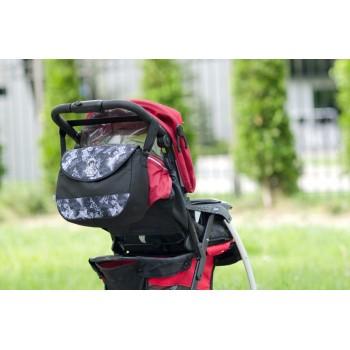 Сумка для детской коляски Baby Breeze 0355 с водоотталкивающей пропиткой дизайн черная