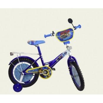 Двухколесный детский велосипед 12 дюймов PP1204 со звонком и зеркалом, без ручного тормоза