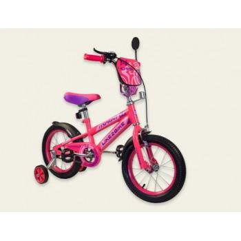Двухколесный детский велосипед 16 дюймов Like2bike Sprint 191632 Розовый с боковыми тренировочными колесами