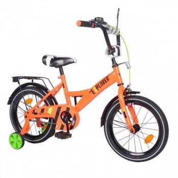 Двухколесный велосипед для детей с надувными и съёмными страховочными колесами 16