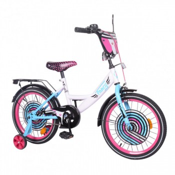 Двухколесный велосипед с приставными колесами EXPLORER 18