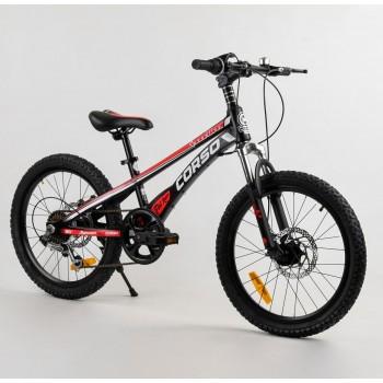 Городской велосипед с двумя колесами с переключателем скоростей CORSO «Speedline» MG-29535, черный