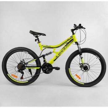 Спортивный велосипед со стальной рамой, ручным тормозом, подножкой, колеса 26