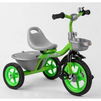 Велосипед для малышей, с багажником, звоночком и резиновыми колесами BS-3615