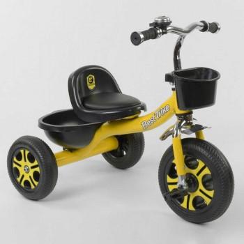 Велосипед трехколесный LM-9033 Best Trike пено колесо, металлическая рама, звоночек, 2 корзины