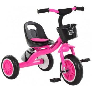 Велосипед 3-х колесный для девочек с высокой спинкой, бутылкой для воды, багажником «TURBOTRIKE» M 3197-M-2