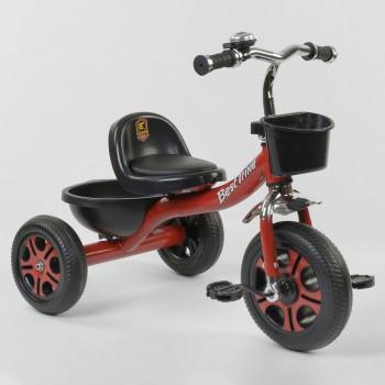 Велосипед детский трехколесный с звонком и двумя корзинами