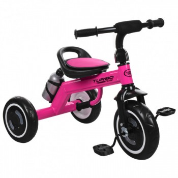 3-х колесный велосипед для девочки со светящимися колесами «TURBOTRIKE» M 3648-M-1, (цвет Розовый)