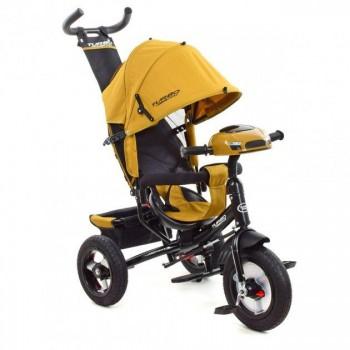 Велосипед детский трехколесный с музыкальной панелью и фарой TURBOTRIKE M 3115HA-24 (цвет Бежевый)