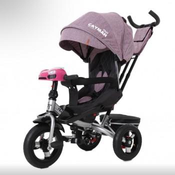 3-х колесный велосипед с поворотным сиденьем, пультом и усиленной рамой TILLY Cayman T-381/6, Фиолетовый лен