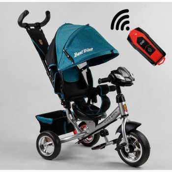 3-х колесный велосипед с музыкальной панелью на руле, USB, фарой 3390/45-644 Best Trike, цвет бирюзовый