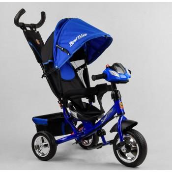 Велосипед 3-х колесный для мальчика с музыкальной панелью, колеса пена 6588/76-504 Best Trike, синий